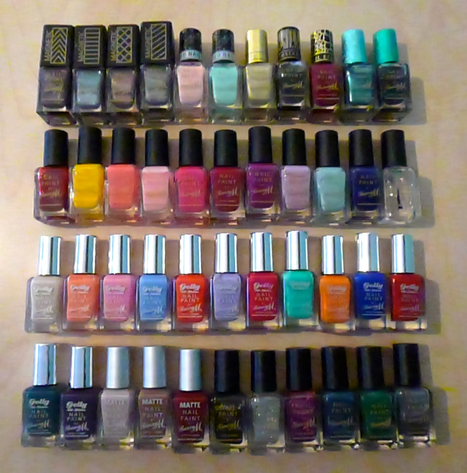 Finger Nail Paint: Hanclarky: My Barry M Nail Paint Collection
