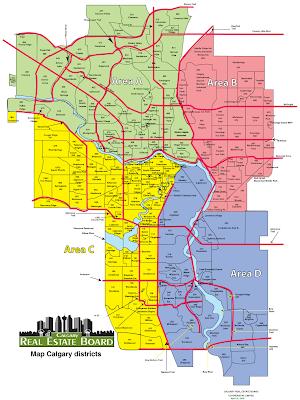 Map of Calgary Canada City