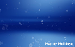 happy holiday blue christmas wallpaper