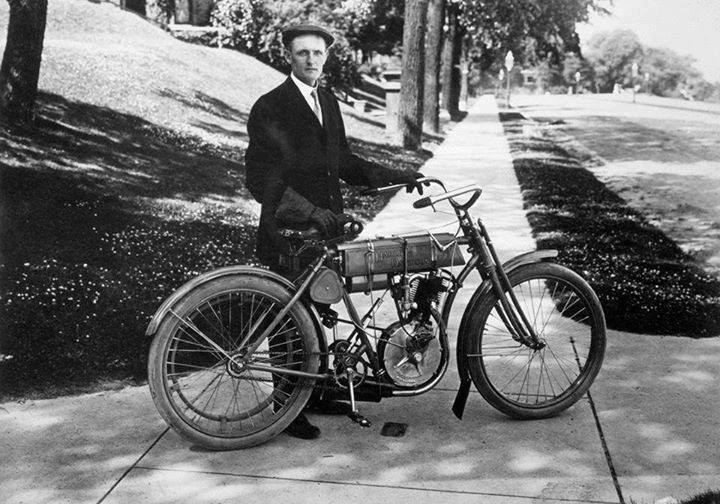 The first motorcycle