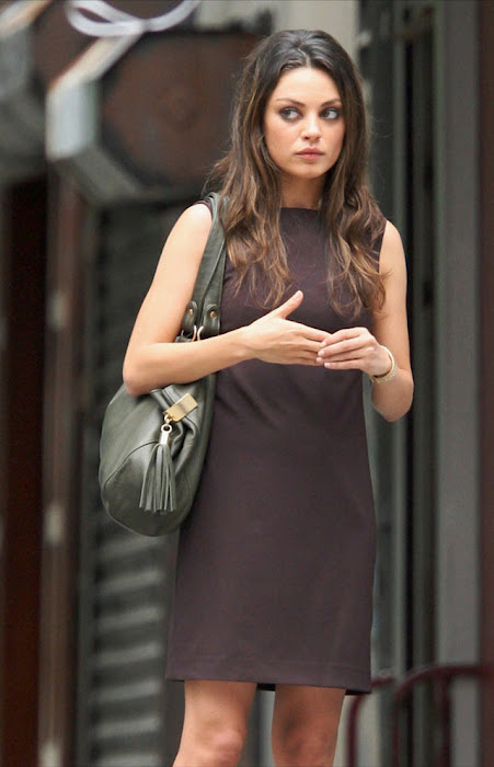 mila kunis on the set - candid photo gallery