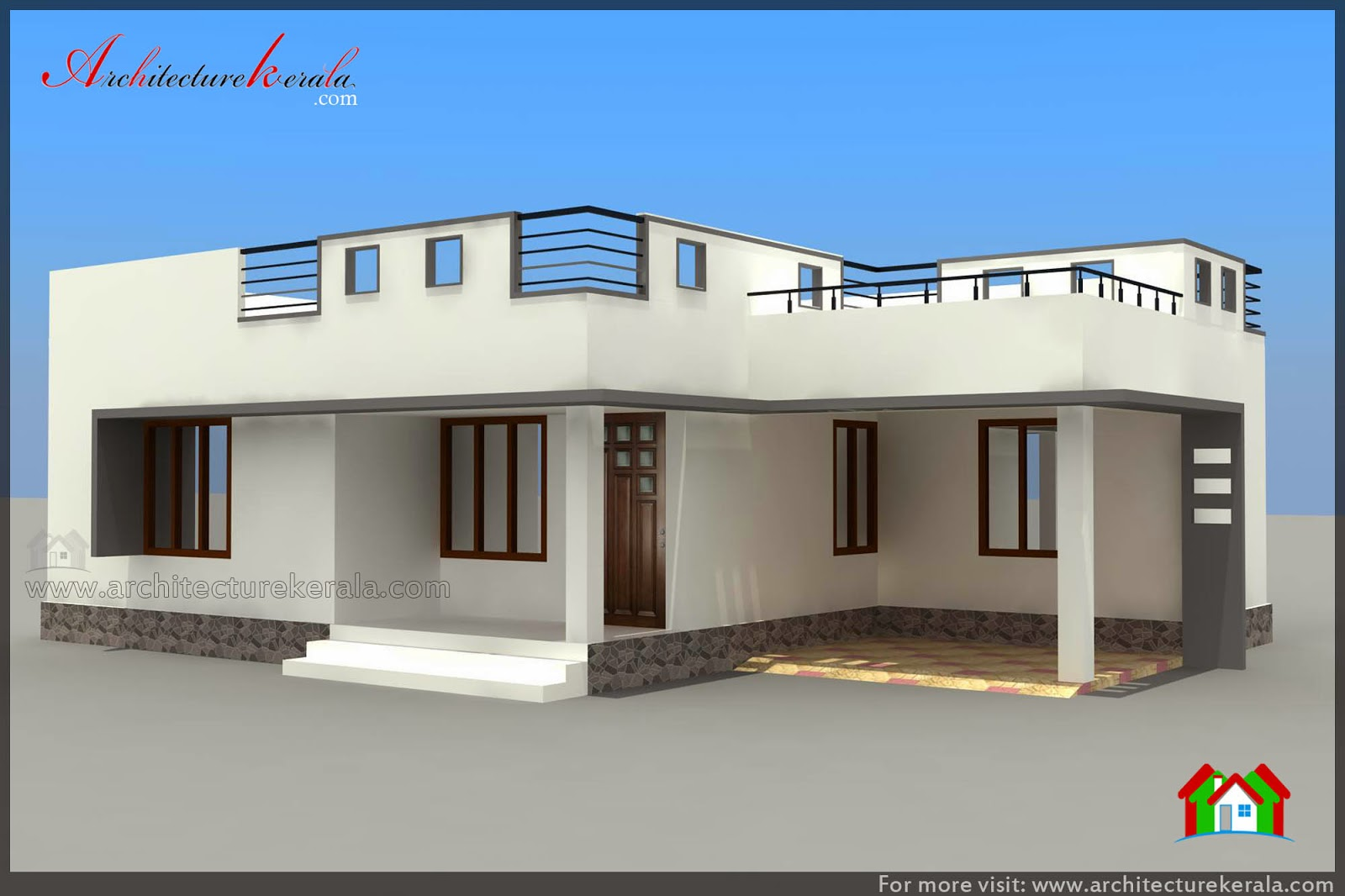 below 1000 square feet house plan and elevation On 1000 square feet house