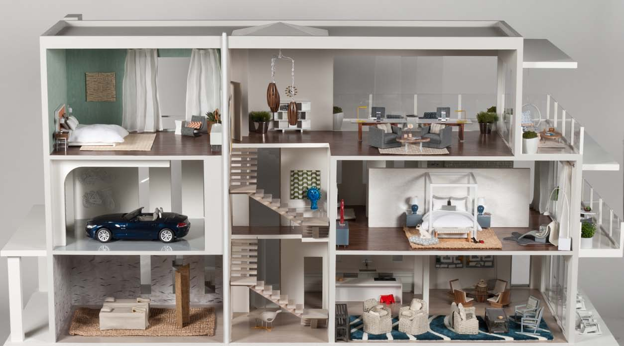 Mini modern the 10 houses of the designer dollhouse showcase for Beach house design jeffrey strnad
