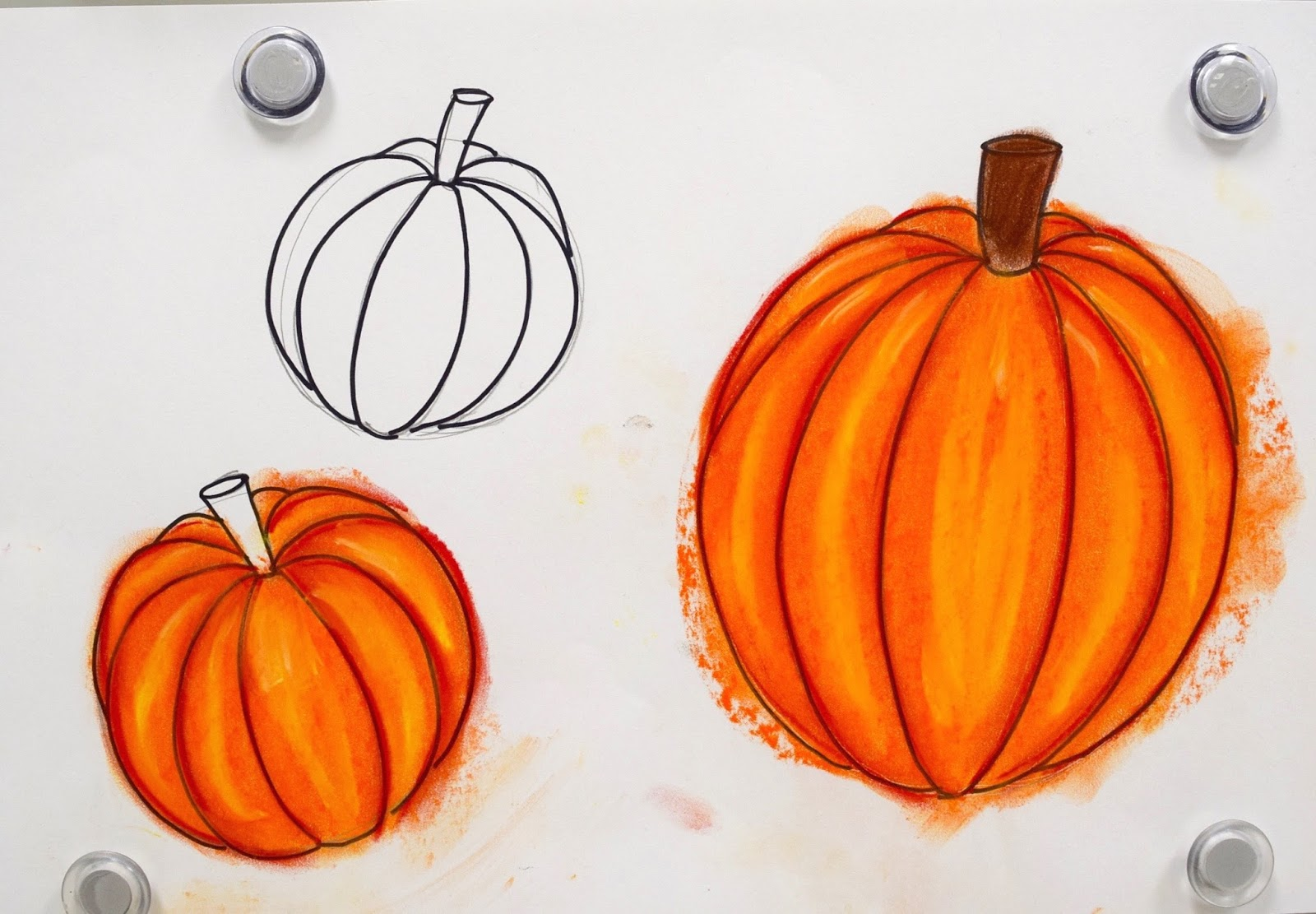 Pumpkin vine drawing