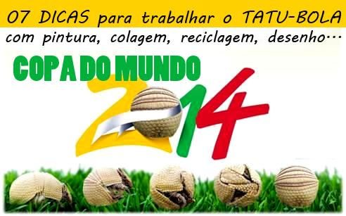 07 Dicas para trabalhar o tatu na Copa do Mundo 2014
