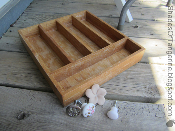 Shades Of Tangerine: Silverware Tray Jewelry Rack (
