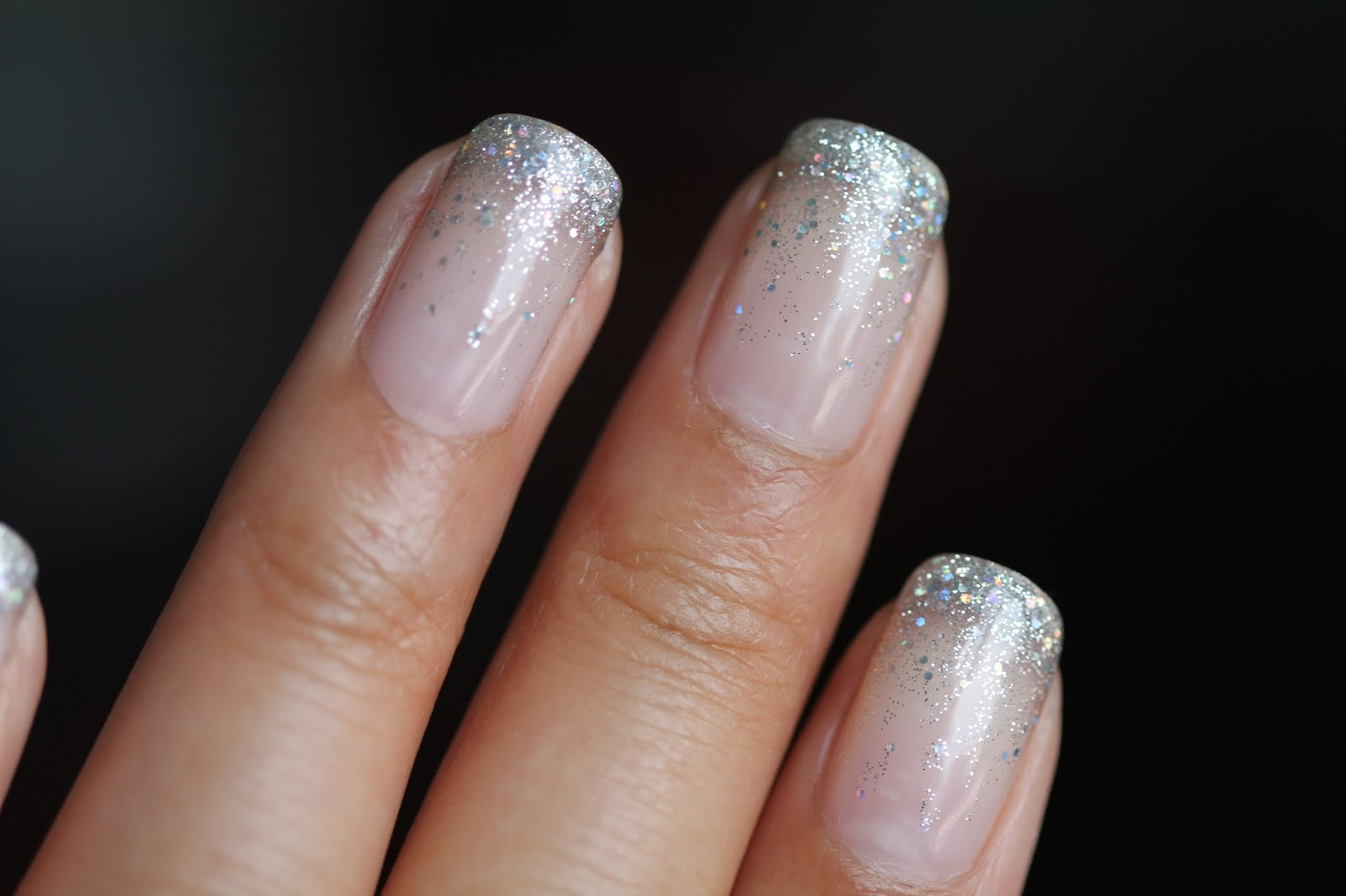 Dsk Steph Cindys Nails Glitter Waterfall Shellac Nails