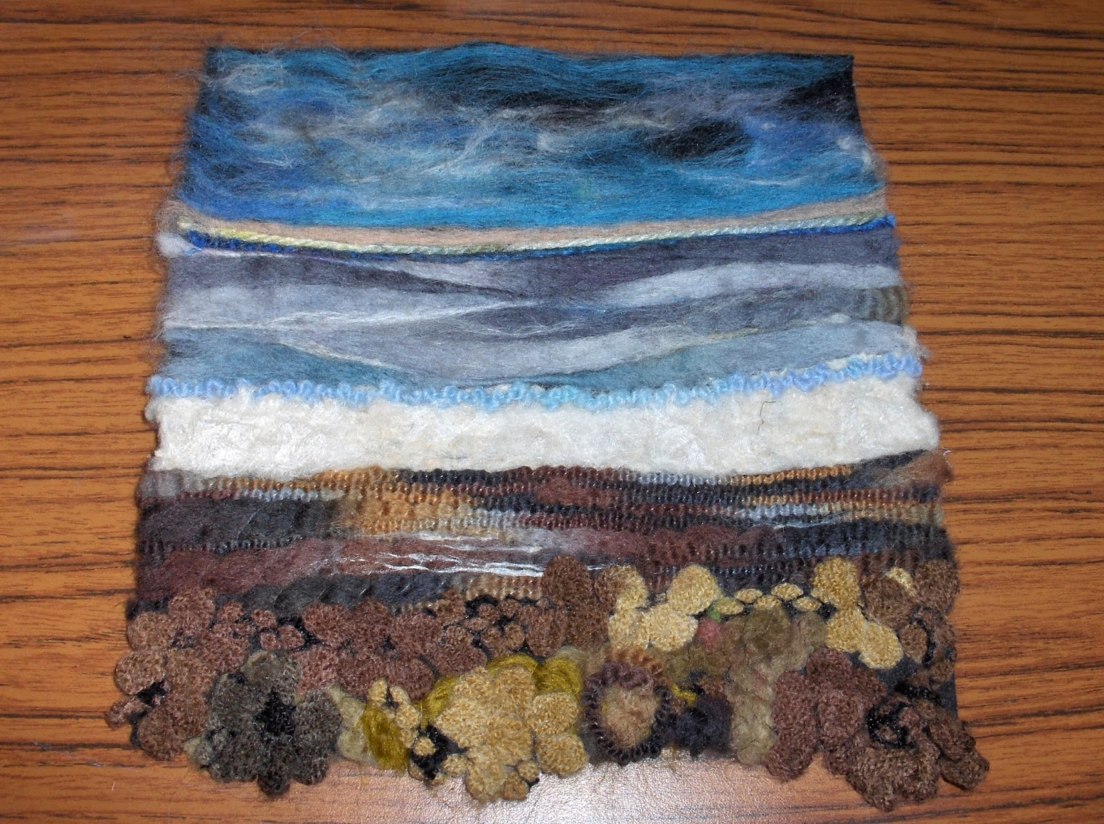 torbay textiles machine knitted felt landscapeseascape