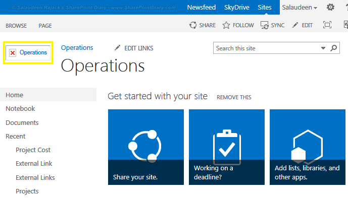 sharepoint 2013 logo not displaying red x