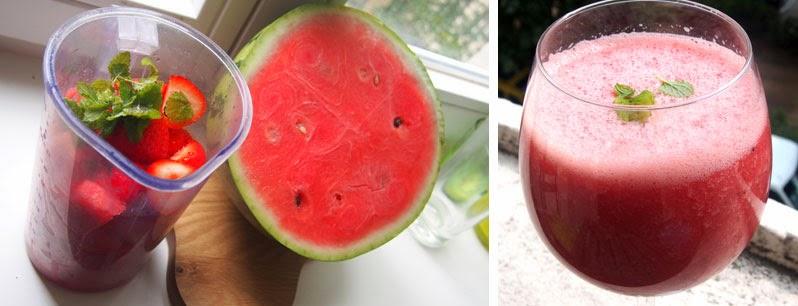Kuuman kesäpäivän herkku: melonishake