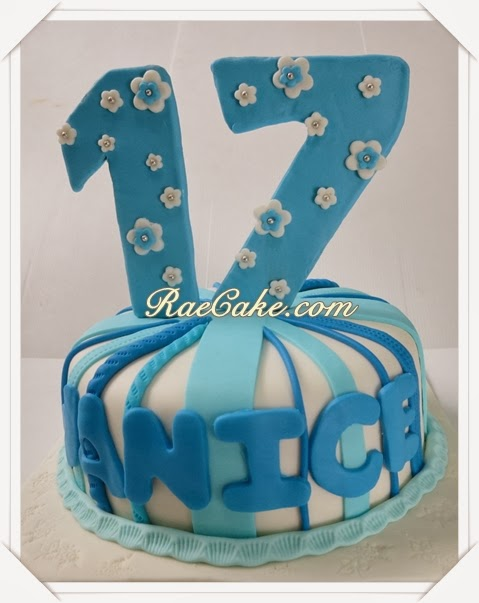 Sweet 17 Cake for Janice Kue Ulang Tahun Birthday CakeCupcake