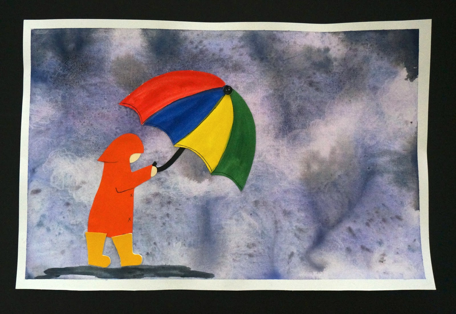 That artist woman rainy day watercolour for 1 day paint