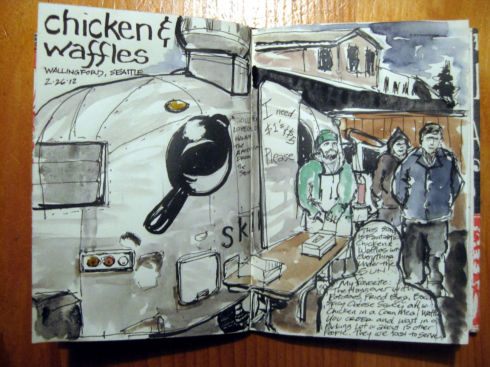 Skillet Food Truck Sketch - Courtesy of David Hingtgen
