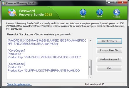 ������ Password Recovery Bundle 2012 ���� ����� ������ ����� ����������