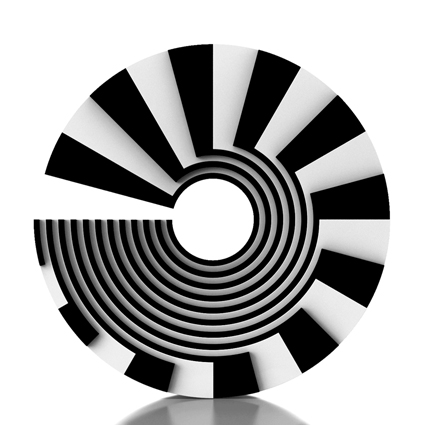 optical art, black and white, stripes art, 60's art, minimal art, circle art,