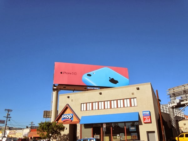 blue iPhone 5c wave 2 billboard