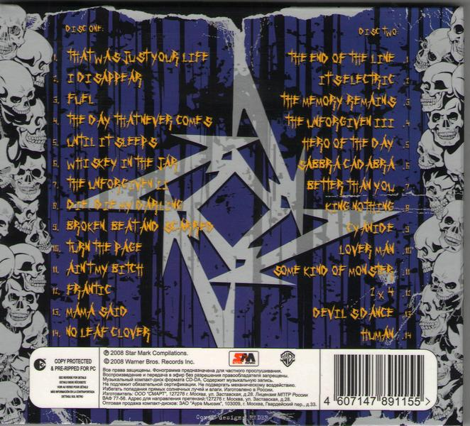 metallica greatest hits cd cover