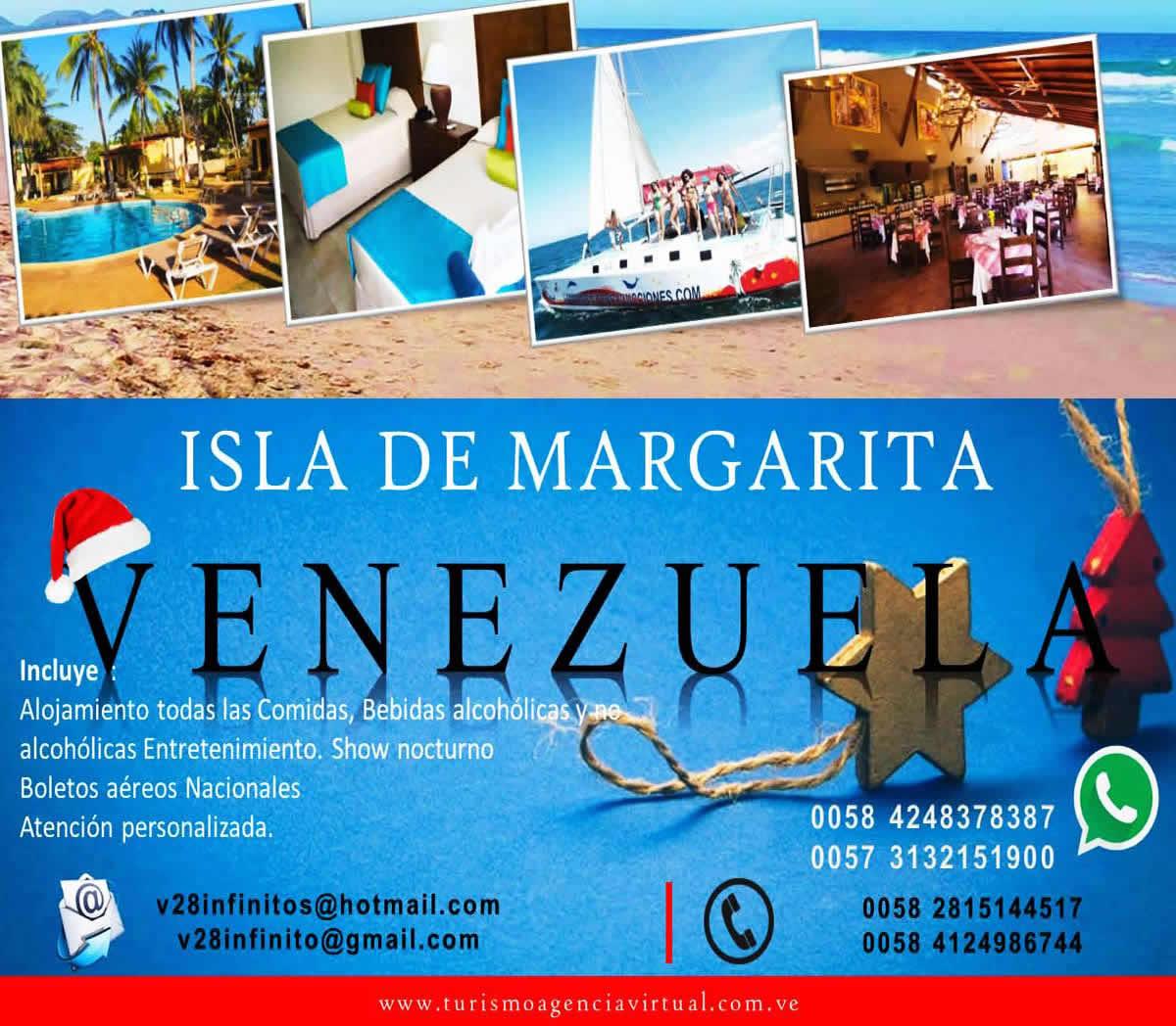 Promoción Navideña De Colombia a la Isla de  Margarita o5 noches / 05 dias todo incluido