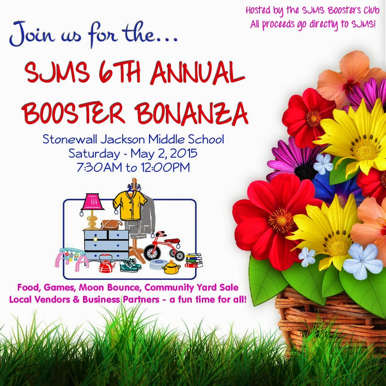 SJMS Boosters Club 6th Annual Booster Bonanza