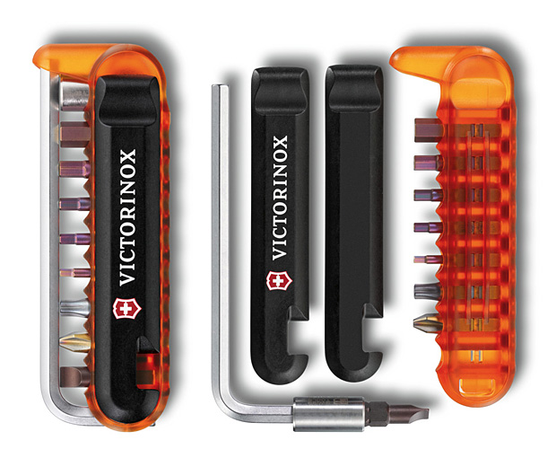 Swiss Army Bike Tool - Victorinox ( Swiss Army Bike Tool Price US$48 ) Swiss Army knife makers Victorinox is well know for portable, multipurpose tools. Their latest Swiss Army Bike Tool