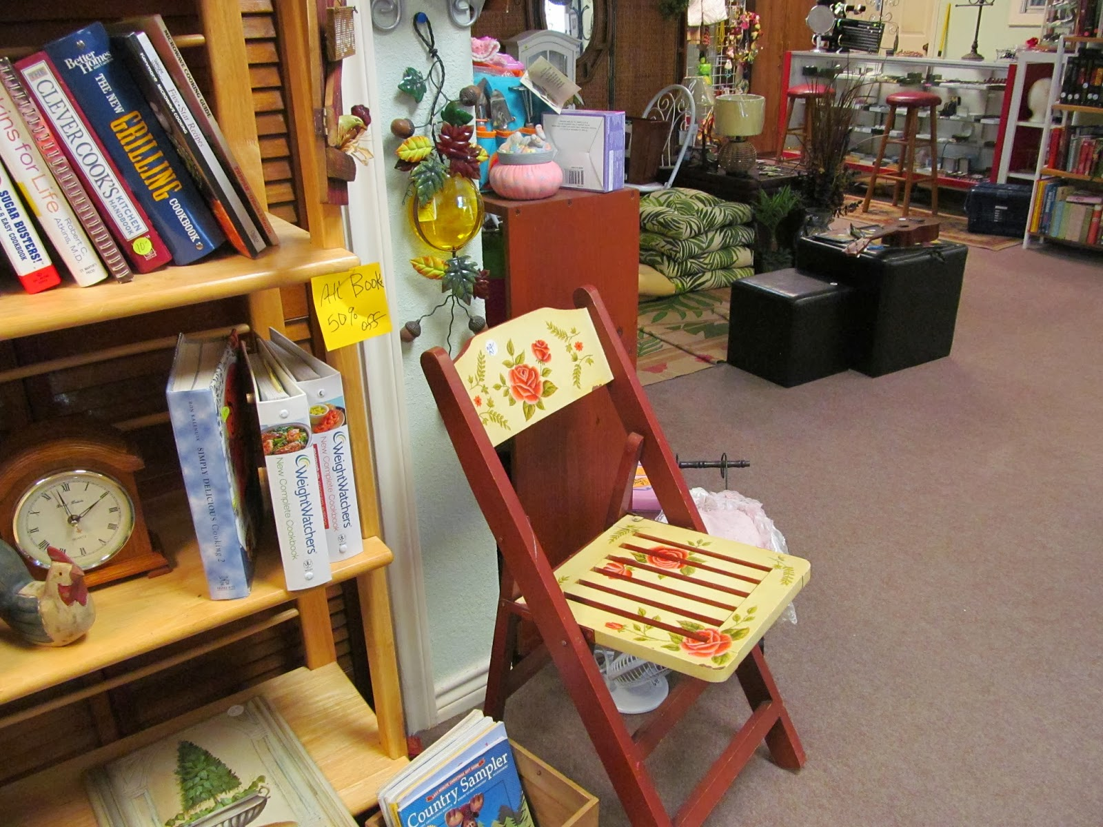 painted folding chair at Mertie's This and That