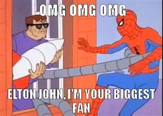 Spider-Man meets Elton John/Doctor Octavius