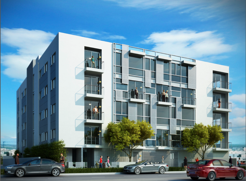 building los angeles del rey getting two low rise apartment complexes