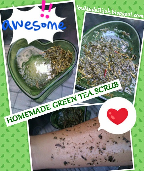 HOMEMADE GREEN TEA SCRUB