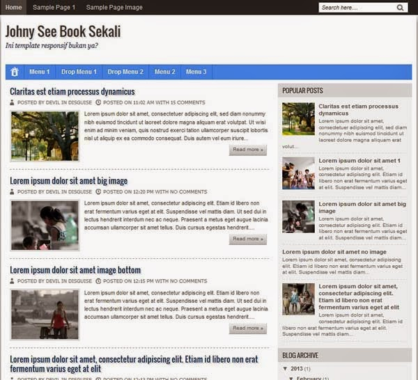 Johny See Book Sekali Template Blog Simple