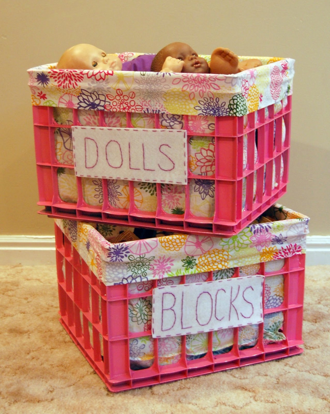 Ever after my way creative uses for milk crates for Creative crates