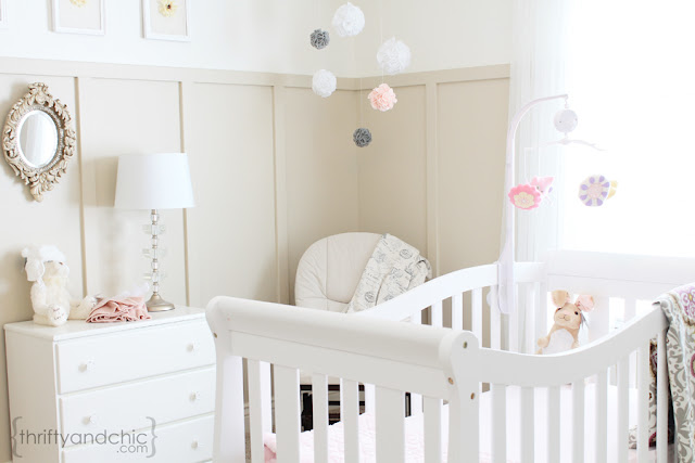 neutral girl nursery