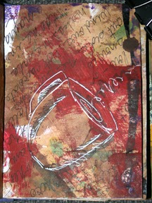 Coffee cup art journal page by CArol Marion