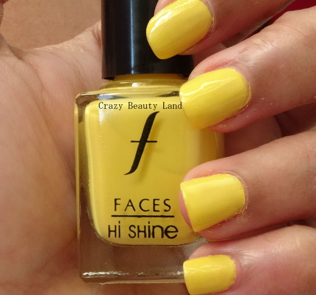 Faces Lemon Fizz Hi Shine Nail Enamel Review