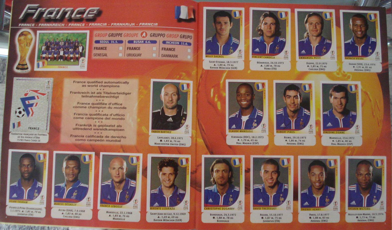 Panini Copa del Mundo Corea//Japón 2002-Foto de Equipo Sudáfrica no 151