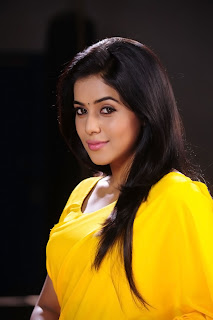 Poorna New Pictures in Yellow saree 009.jpg