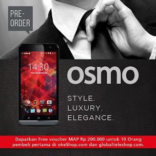 OSMO S50F Android Murah 5 inch Kamera Depan 5 MP Rp 1 Jutaan (Promo Voucher MAP Rp 200.000 Untuk 10 Pembeli Pertama Preorder Sampai 6 Januari 2016)