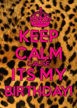 Hoje é meu aniversário