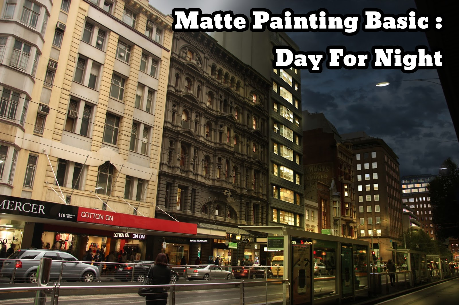 Matte painting basic day for night andrew suryadi 3d academy in this tutorial im going to share about a basic matte painting technique on how to change a photo image from day time to night time baditri Gallery