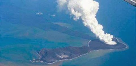 volcán submarino Hunga Ha'apai