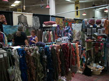 Yarn booth at the Quilt Show
