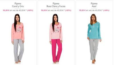 pijamas algodón mujer