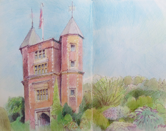 Vita Sackville West's Tower at Sissinghurst Castle Garden copyright Katherine Tyrrell