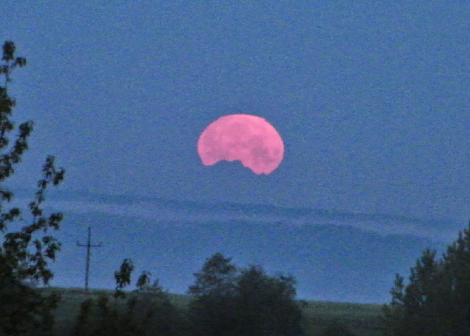 Czudec, Przedmieście Czudeckie, Zachód Księżyca, dalekie obserwacje, long distance observations, Podkarpacie, Rzeszów, Tatry,