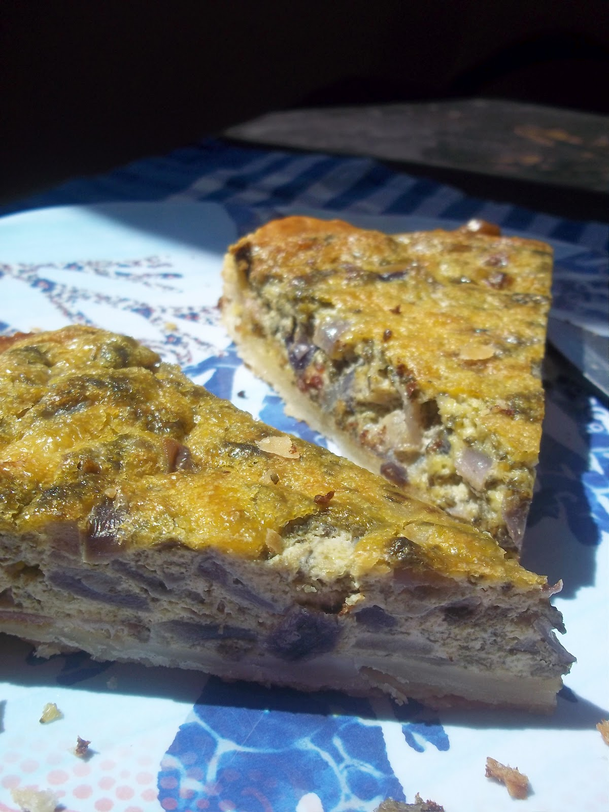 Sorrel and Goats' Cheese Tart Recipe