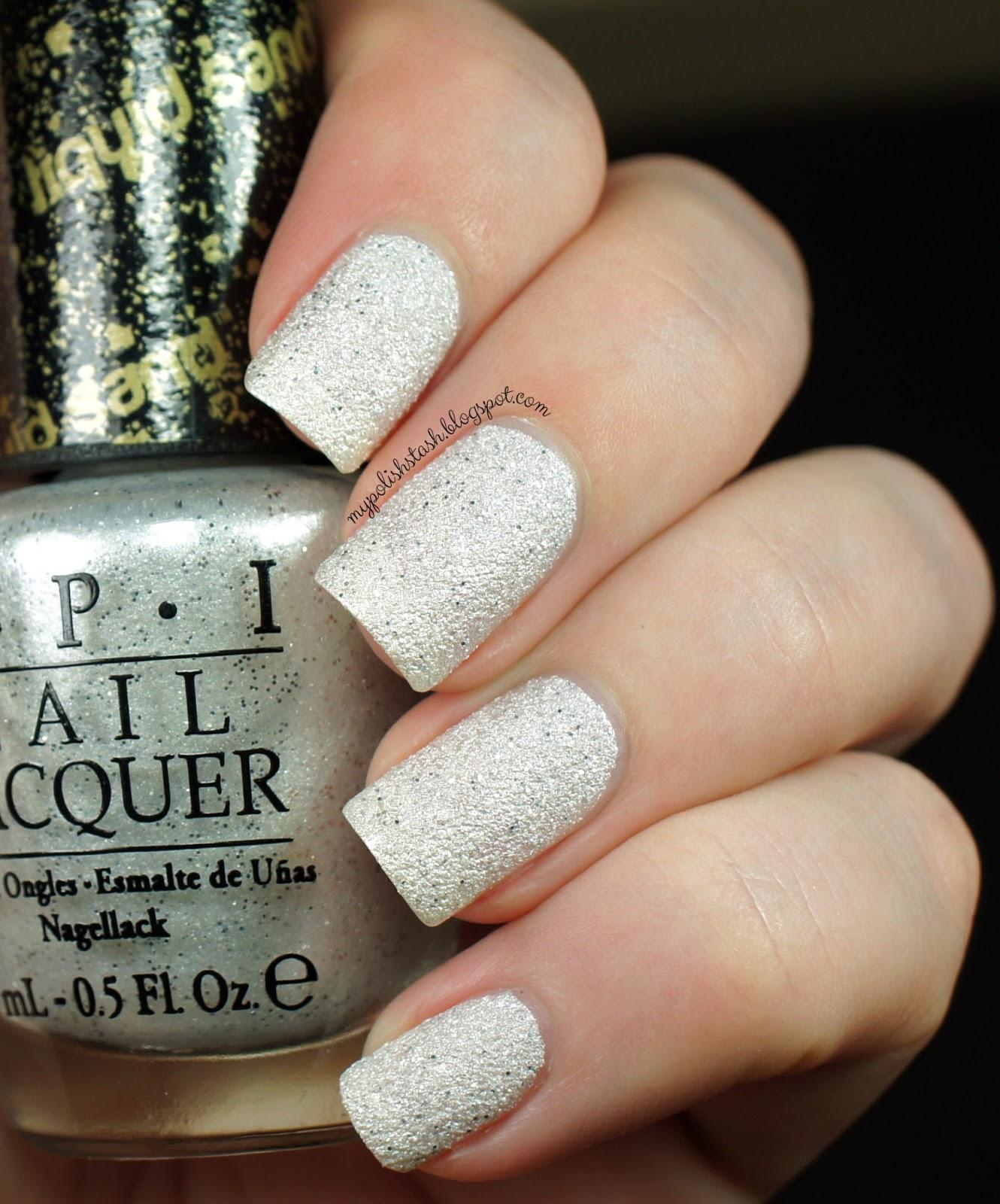 my polish stash: opi bond girl liquid sand nail polish - solitaire