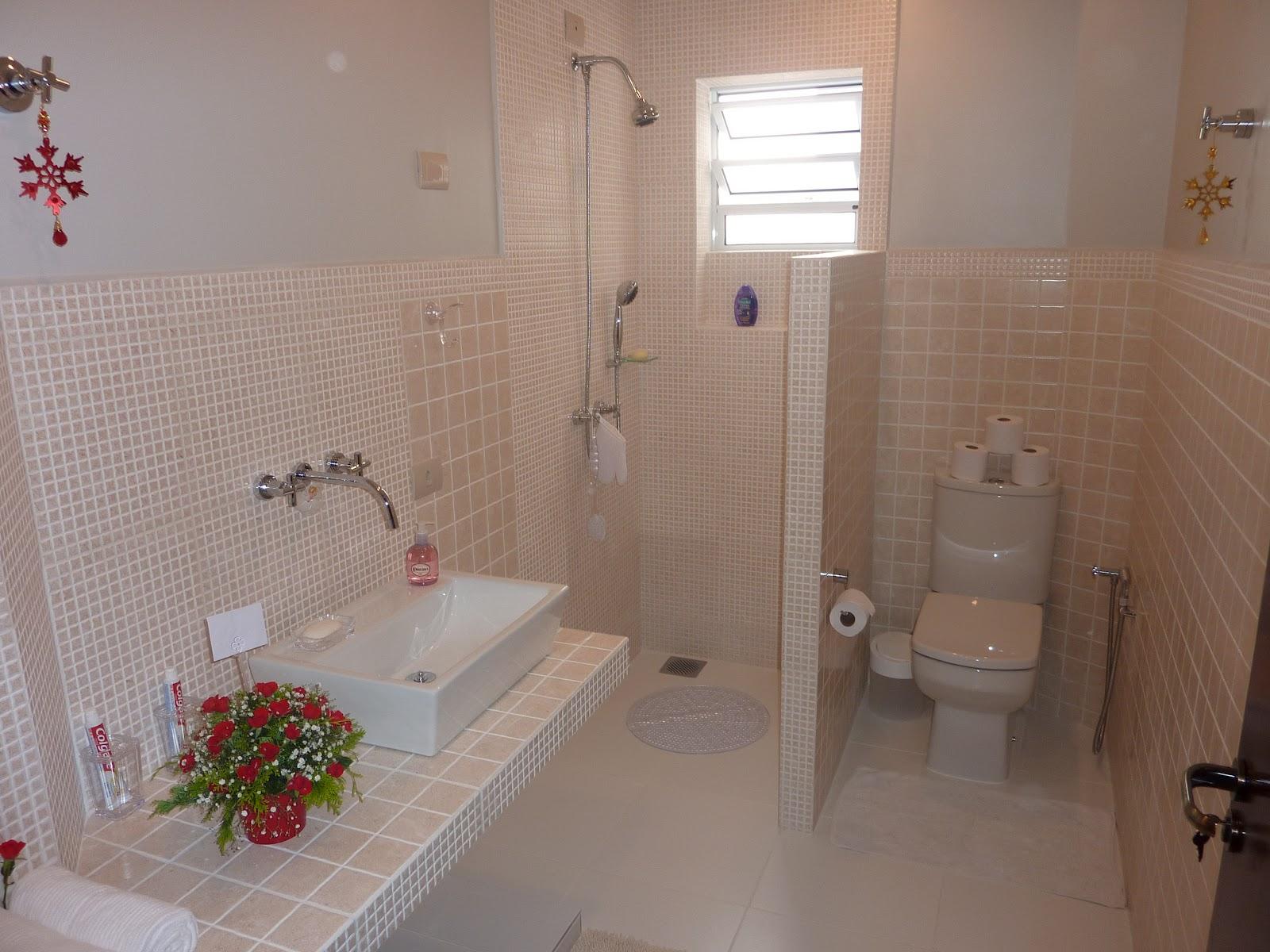 Interior And Art Design Reforma Banheiro -> Banheiros Decorados Na Cor Bege