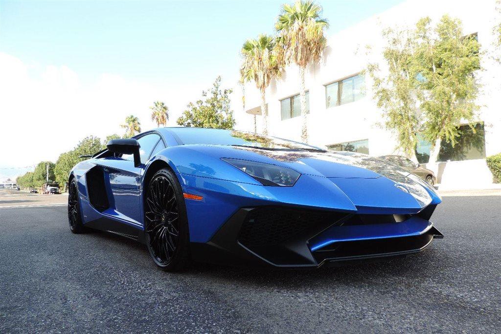 Bright Blue Lamborghini Aventador Sv Hits The Market In California Carscoops
