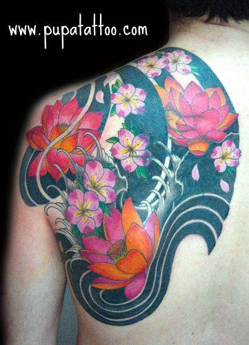 Tatuajes de flores japonesas -3