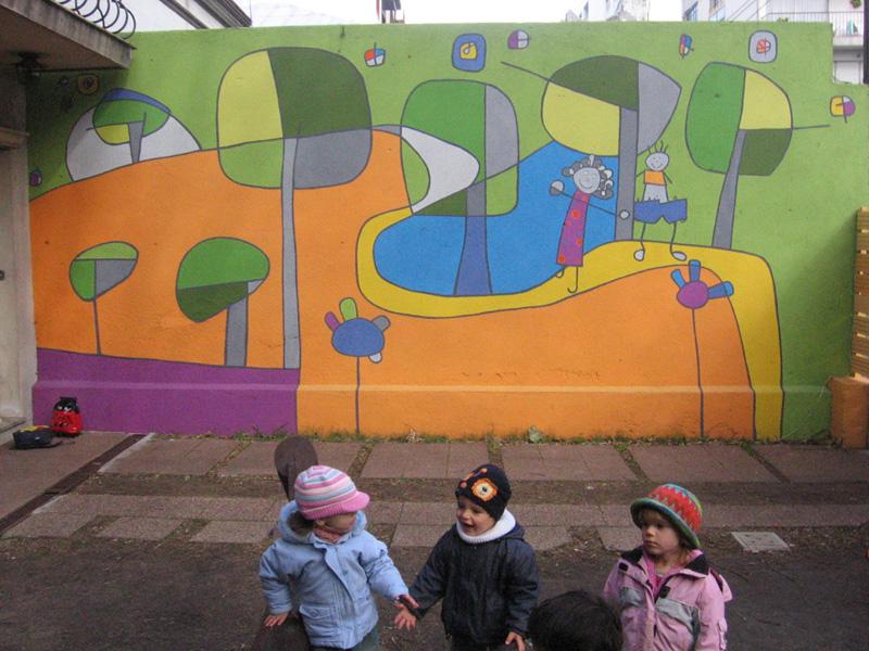 3ycuarto murales mural para jard n de infantes caminito for Mural jardin