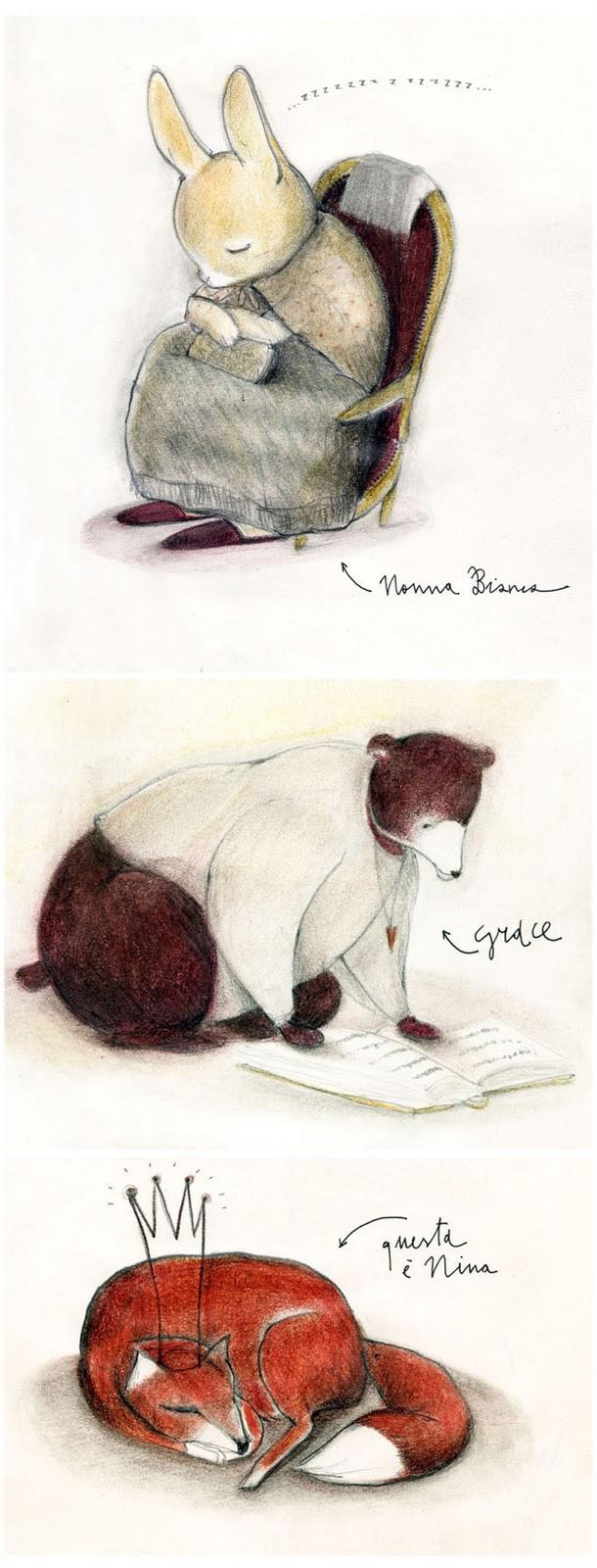 illustrazioni bestiario francesca ballarini